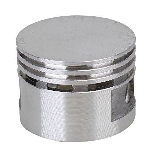 Silber Ton 48mm Durchmesser 12mm Bohrung Aluminiumlegierung Kompressor Motor Kolben Ersatzteil