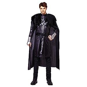 Disfraz de caballero negro de Bristol Novelty AF025, contorno de pecho 107-112cm 2
