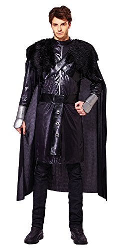 25 Night Watch, luxuriöses Herrenkostüm (Night's Watch Halloween Kostüm)