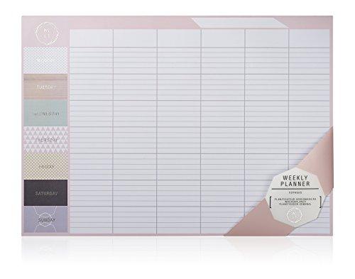 NPW NPW51070 Wochenkalender-Planer Schreibtisch-Block - Desktop-Wochenplaner We Live Like This