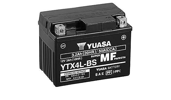 Batterie moto YUASA YTX4L BS 12V 3.2AH 50A