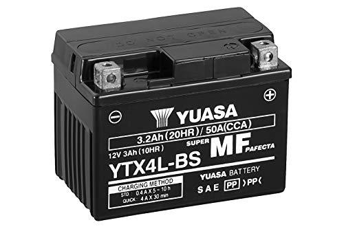 YUASA BATERIA YTX4L-BS AGM abierto - con paquete de ácido