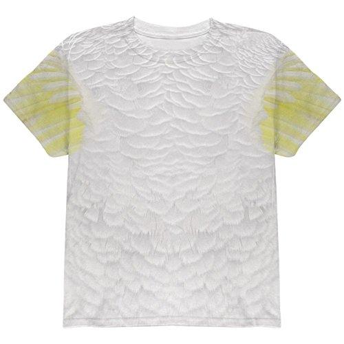 Kakadu Papagei Kostüm auf der Ganzen Jugend T Shirt Multi YMD (Papagei Halloween Kostüme Kind)