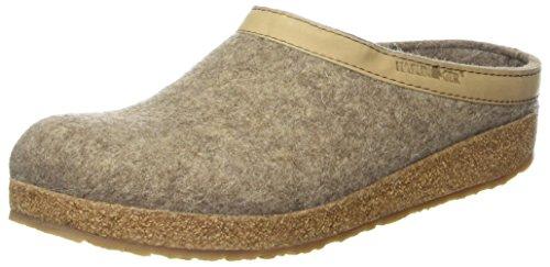 Haflinger Unisex-Erwachsene Grizzly Torben Pantoffeln, Beige (550 Torf), 45 EU