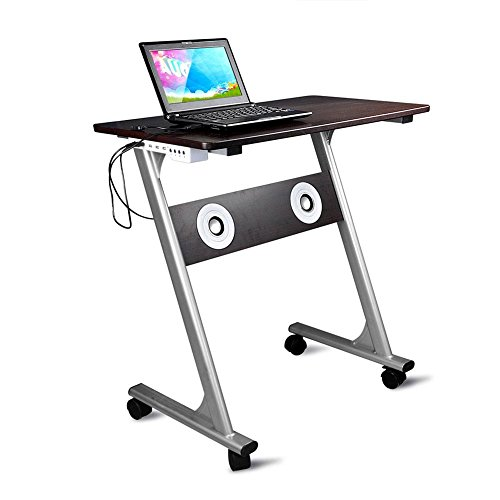 Entfernbarer Computer-Schreibtisch-PC-Schreibtisch-bewegliche tragbare Laufkatzen-Studie-Arbeitsstation mit gleitender Tastatur 4 Multimedia-abkühlender stichhaltiger Computer-Schreibtisch , black , 86*46*20cm Gaming-hutch