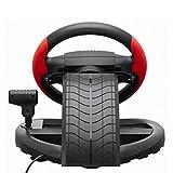 Driving Force Racing Wheel Unterstützung für PC / PS3 Game Lenkrad 300 ° -Drehung Metall Reifenform Super Size Rough Leder-Textur Metall Texturierte Racing.