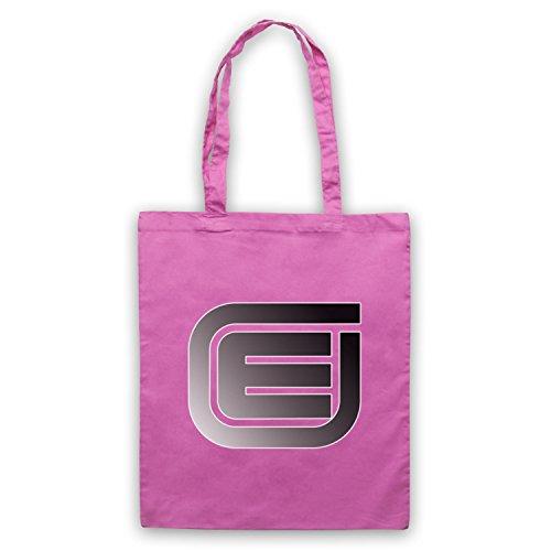 Inspiriert durch Tron Encom E Logo Inoffiziell Umhangetaschen Rosa