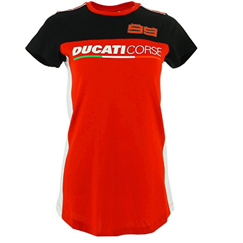 Ducati Corse Jorge Lorenzo 99 Moto GP Mujer Panel Camiseta Oficial 2017