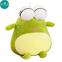 XRQ Plush Toy, Large Big-Eyed Frog Green Frog Doll, Home Decoration Pillow, Children