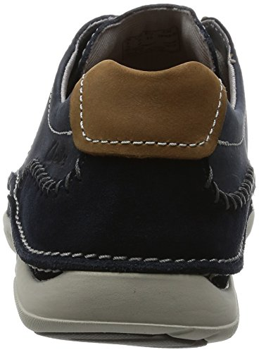 Clarks Trikeyon Mix, Derby Homme Bleu (Blue Leather)