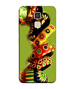 PrintVisa Designer Back Case Cover for Asus Zenfone 3 Max ZC520TL (5.2 Inches) (Colourful Tradional Bangles Jewels Girlish)