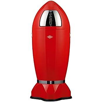 Wesco 138 631-02 Poubelle à pédale Spaceboy XL (Rouge)