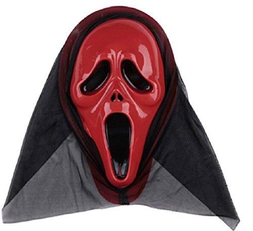 Inception Pro Infinite Maske für Kostüm - Verkleidung - Karneval - Halloween - Monster - Assassine - Rot - Erwachsene - Unisex - Frau - Mann - Jungen - Scream
