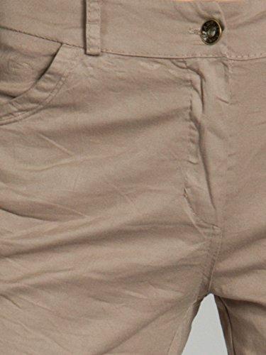 CASPAR BST006 Damen Baumwoll Sommer Shorts kurze Hosen Schlamm