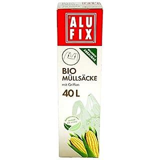 8 Stk. ALUFIX Biomüllsäcke Biomüllbeutel 40L mit Tragegriff biologisch abbaubar