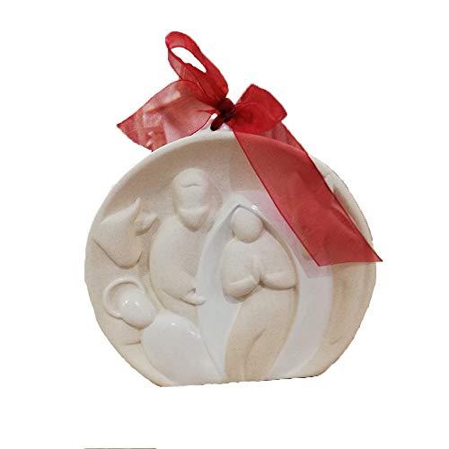 Wald Presepe con Santa Famiglia Sfera e Fiocco in Ceramica
