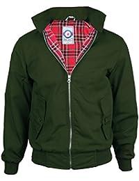 Uomini Gensen Classico Retro Vintage Mod Harrington Jacket Nuovo Cappotto