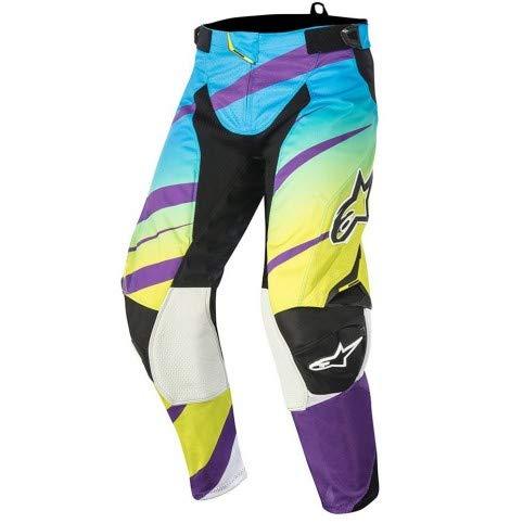 Pantalones Alpinestars Techstar Venom (VERDE Lima/Cyan/Purpura) - 28