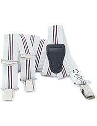 Xeira  Hochwertige Hosenträger reg; für Damen und Herren in vielen Trendigen Design - 3 Stabile Clips und 25mm Breit - Made in Germany