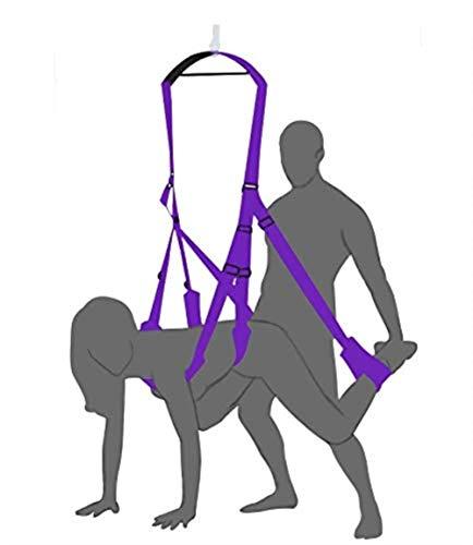 QQY Perfekte Größe über der Tür Schaukel für aufrechte Abenteuer, verstellbare Träger, Arm- und Fußriemen mit starkem Nylon und gepolstertem Neopren, Haltbarkeit und Komfort - Hängenden Arm-unterstützung