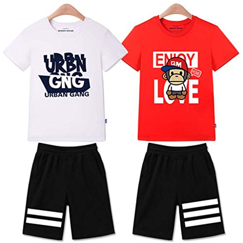 Spiderman Kinderbekleidung Kurzarm Set, Sommer Jungen Kleinkind Baby Kinder Iron Man Tops T-Shirt Kurze Hosen Set 3~14 Jahre Alt