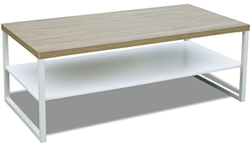 ohnzimmertisch Steffen mit Ablage 120 x 60 cm Eichen-Dekor (#205611) ()