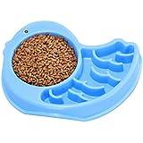 Nrkin Dog Cat Bowls Premium Acero Inoxidable Tazones para Mascotas Estación De Resina Sin Derrame, Alimentador De Agua para Alimentos para Mascotas (Verde Blanco Azul Rosa)