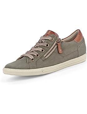Paul Green 4128-042 Damen Sneaker Aus Hochwertigem Leder filigrane Kontrastnähte