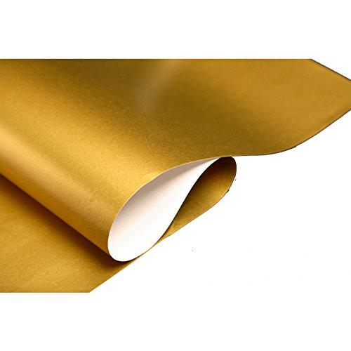 Luxuriöses Geschenkpapier für Geburtstage, Hochzeit, Weihnachten, Geschenkpapierrolle 4m gold