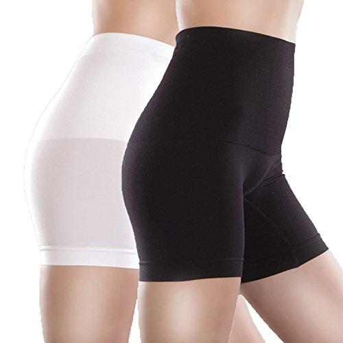 Libella Damen Miederpants mit Bauch-Weg-Effekt MDU3605 Schwarz/Weiß Gr. XL/2XL