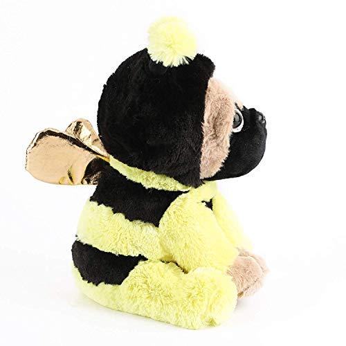 Honig Biene Kinder Kostüm - wangwang Plüschtier Mops Tragen Bee Kostüm Plüsch Weichen Hund Welpen Gekleidet Wie Gelb Honig Biene Spielzeug für Kinder