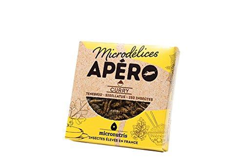 Micronutris Insectes comestibles - Apéro 250 Curry mélange de grillons et vers de farine