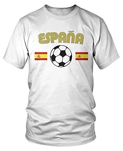 Men's Spain Soccer Flags, Love Espana Football T-Shirt XXL -