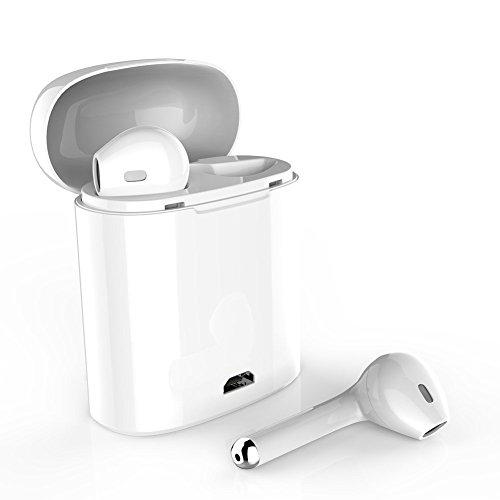 Bluetooth Kopfhörer 4.1Kabellose in Ear Ohrstöpsel mit Tragbarer Ladestation und Mikrofon für Apple iPhone X/8/8P7/7P/6s 6s Plus, iPad, und Android Geräte (Apple Iphone Bluetooth)