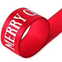 Tobey Trevelyan friendly Red Merry Christmas Ribbon Gift Bag Tied Rope Xmas Gift Package Ribbon 22M(None RD)