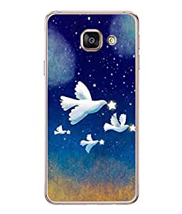 PrintVisa Designer Back Case Cover for Samsung Galaxy A5 (6) 2016 :: Samsung Galaxy A5 2016 Duos :: Samsung Galaxy A5 2016 A510F A510M A510Fd A5100 A510Y :: Samsung Galaxy A5 A510 2016 Edition (Blue White Flying Illustration Shape Freedom Feathers Happiness)