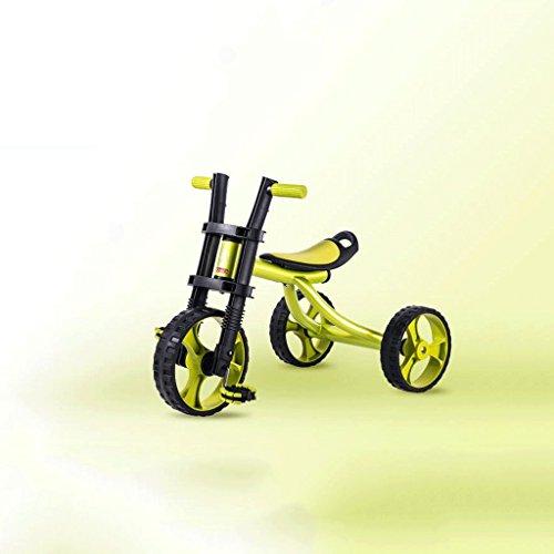 Enfants Tricycle Vélo Enfant Bébé Poussette Big Harley 2-3-5 Ans Vélo GAOLILI (Couleur : Vert)