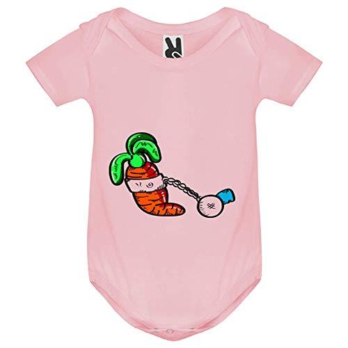 LookMyKase Body bébé - Carrot - Bébé Fille - Rose - 12MOIS