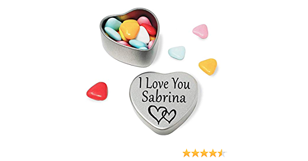 Joyeux anniversaire Sandra mini coeur tin cadeau pour Sandra avec chocolats