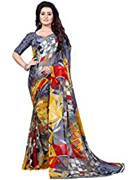 Anand Sarees faux georgette saree with blouse piece