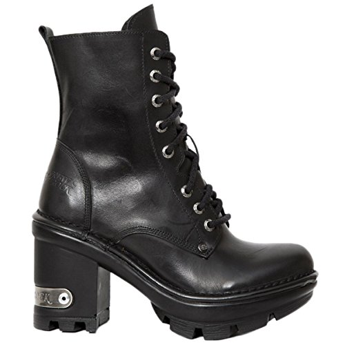 New Rock Womens M.NEOTYRE07X-S1 Leather Boots Black