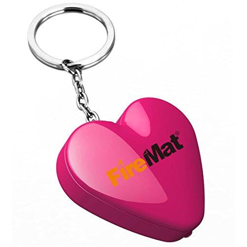 FireMat&reg USB Elektronisches Winddichte Feuerzeug Taschenlampe Portable Zigarettenanz&uumlnder ideal als Geschenk (Herz Pink)