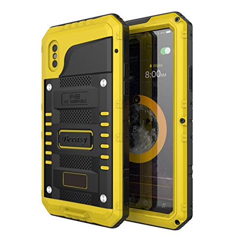 8f25ffcc9c5 Beeasy Funda Antigolpes iPhone XS, [Sumergible] Carcasa Impermeable  Resistente Reforzada Acuática ...