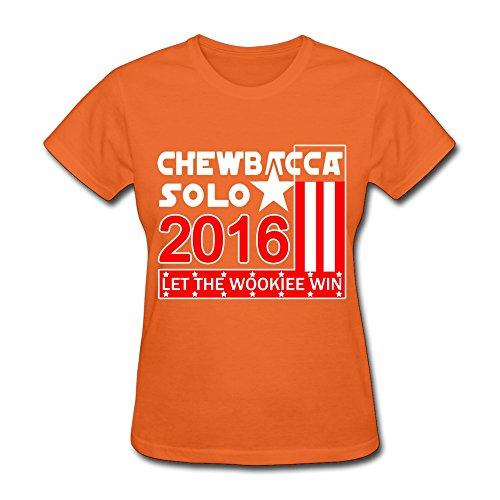 xy-tee para mujer camiseta de manga corta Chewbacca solo 2016 Let el  Wookiee Win