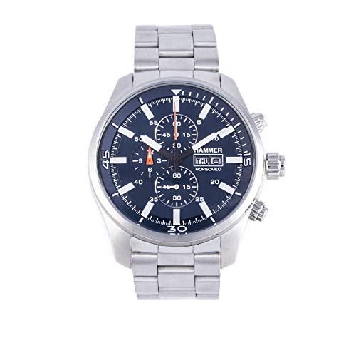 Herren-Armbanduhr HAMMER Montecarlo Edelstahl Silber H3D70G-06