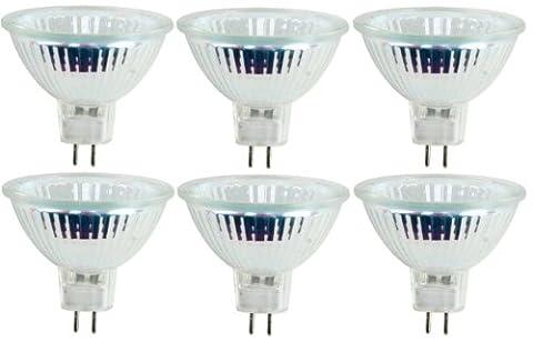 6 x 35W 12V MR16 GU5.3 Halogen Lamp, M281, Low Voltage Dimmable Reflector GU 5.3 Spot Light Bulbs