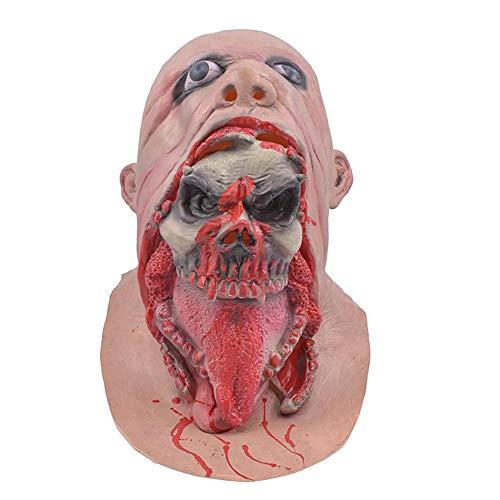 Hunde Für Zombie Kostüm - Hzonder Halloweenmaske, Zombie-Maske mit Totenkopf-Motiv, Halloween-Kostüm, Party-Maske, Horror Latex, Zombie