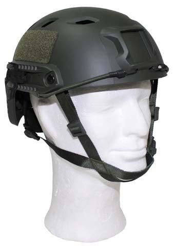 US Helm, FAST-Fallschirmjäger, oliv, Rails, ABS-Kunststoff Test