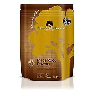 Rainforest Foods Organisches Maca-Pulver (4-Typ-Mischung), 1er Pack (1 x 300 g) - Bio