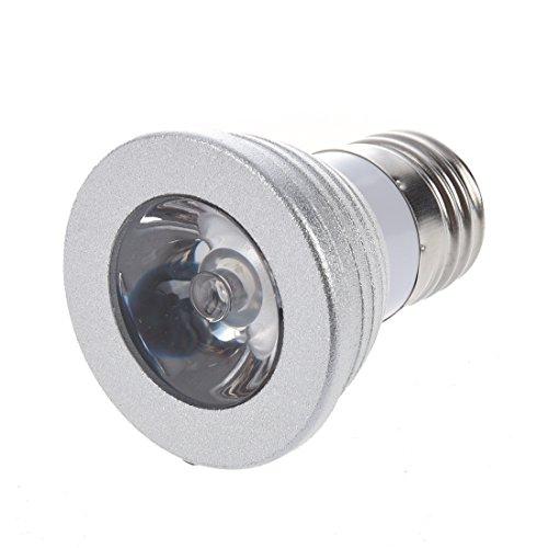 TOOGOO(R) 16 Couleurs E27 Telecommande 3W RGB LED Batterie d'ampoules CR2025